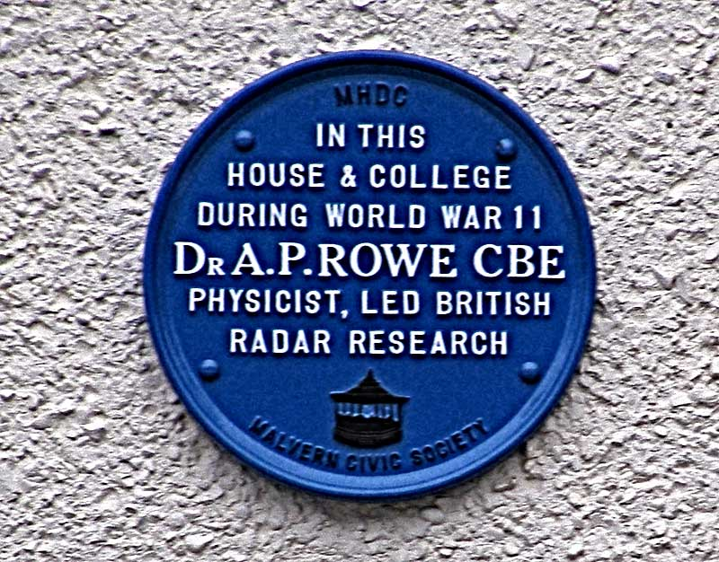 Plaque on Roslin House 2013