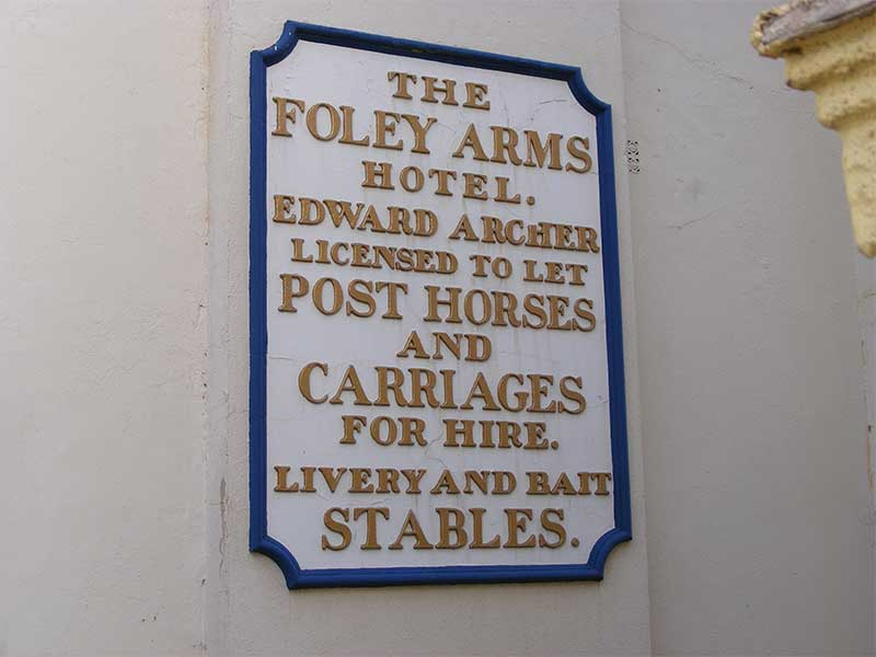 Foley stables sign