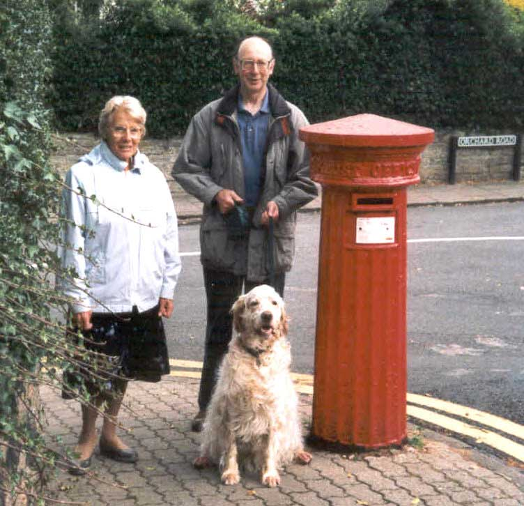 Victorian post box at south end of Orchard Road Great Malvern