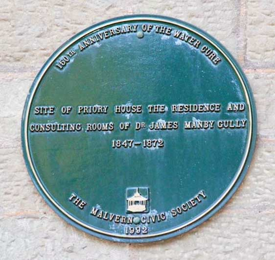 Plaque on Priory Mansion