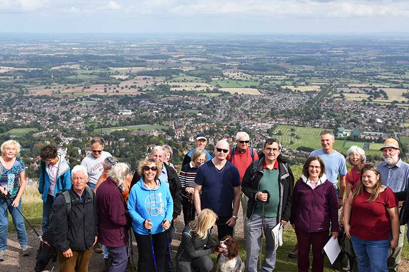 Residents on the Worcestershire Beacon of the Malvern Hills